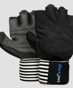 WeightLifting Workout Gym Gloves with Wrist Wrap