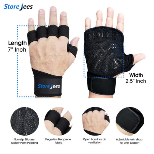 New Open Ventilation Weightlifting and Workout Gloves