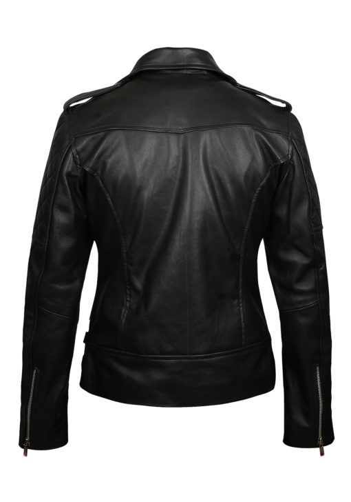 Quilted Biker Leather Jacket