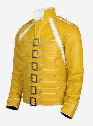 Men's Yellow Leather Jacket