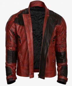 Galaxy Maroon Leather Jacket