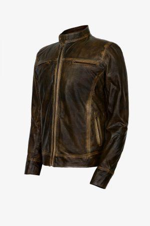 Distressed Cafe Racer Jacket