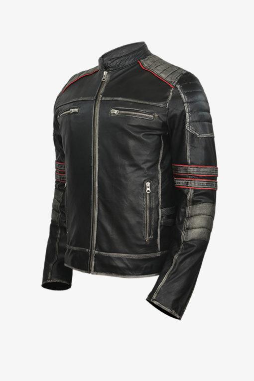 Retro Moto Leather Jacket