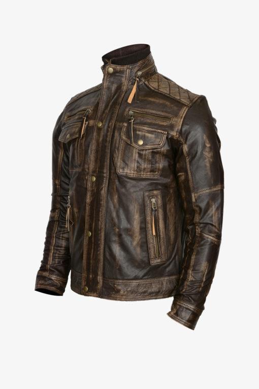 Retro Zipper Leather Jacket