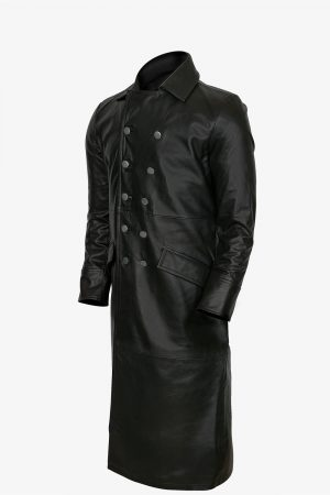 German Leather Trench Coat