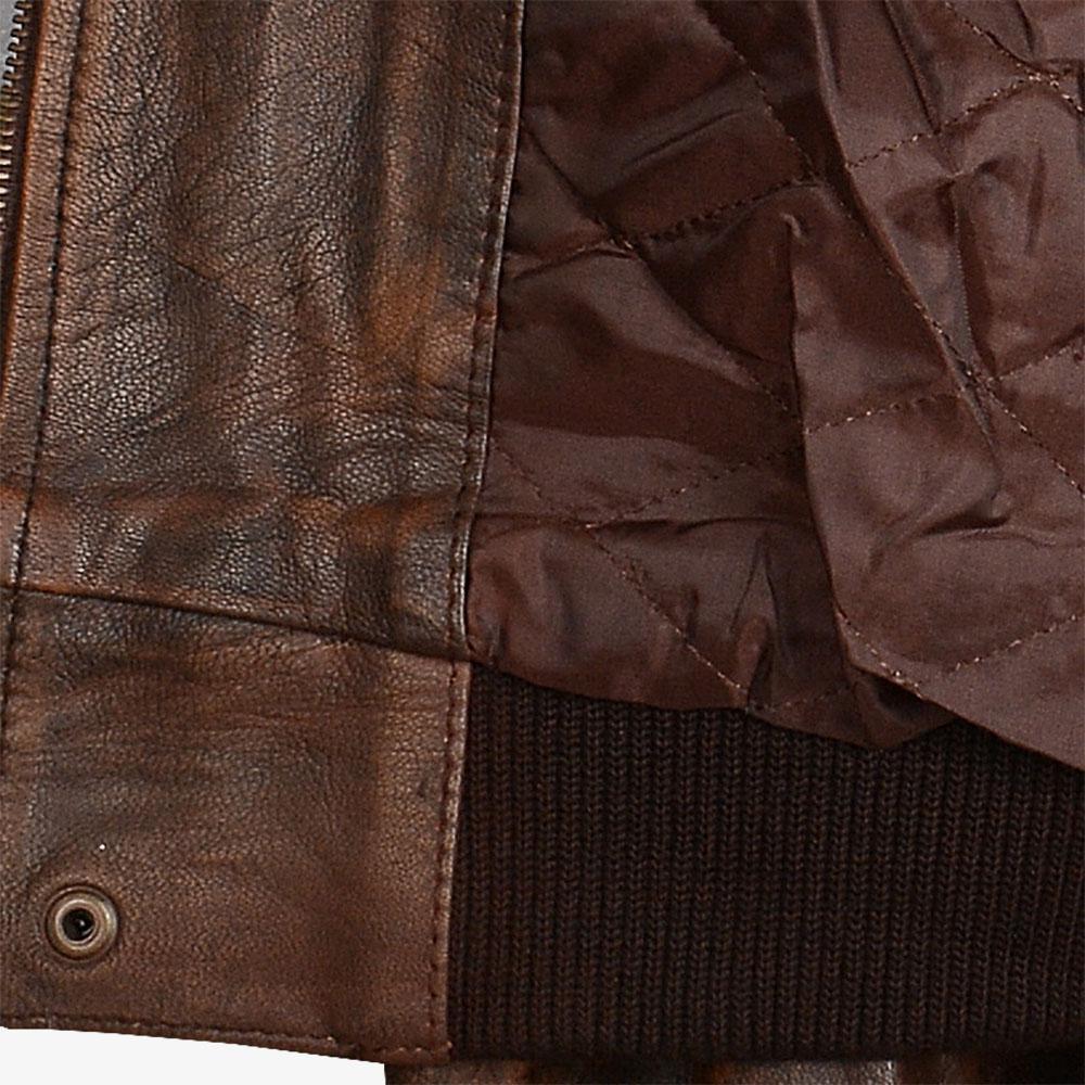 Flight Bomber Aviator Leather Jacket