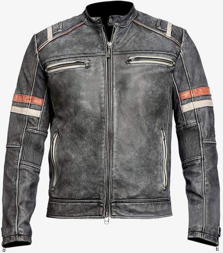 Distressed Moto Leather Jacket