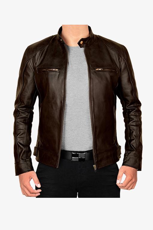 vintage brown leather jacket-1