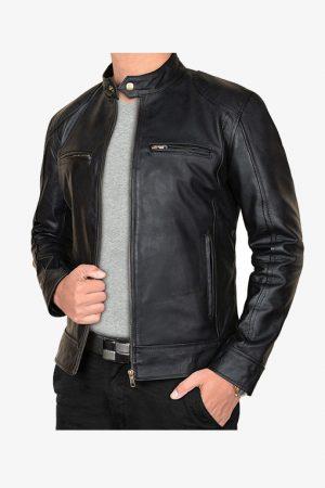 Vintage Black Leather Jacket