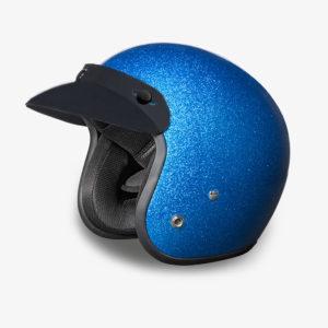 Helmet with Blue Metal Flake