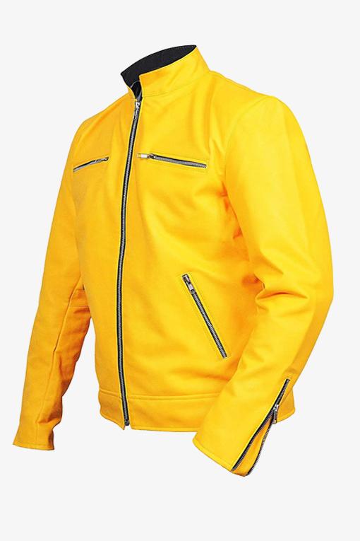 yellow detective leather jacket