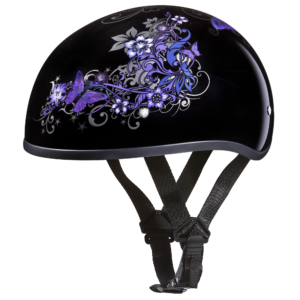 Motorcycle Half Helmet Skull Cap- Butterfly Helmets - 100% DOT Approved