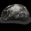 Motorcycle Half Skull Cap Helmet - Guns - 100% DOT Approved