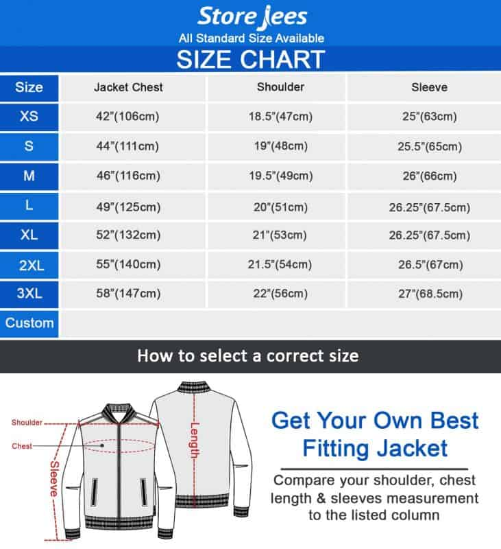 storejees size chart