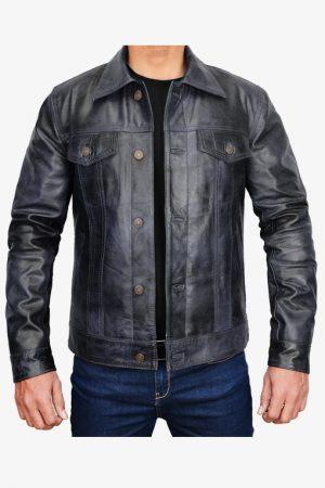 Mens Trucker Jacket Black
