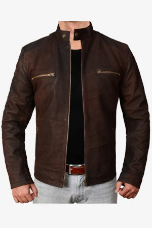 Vintage Maroon Snuff Leather Jacket