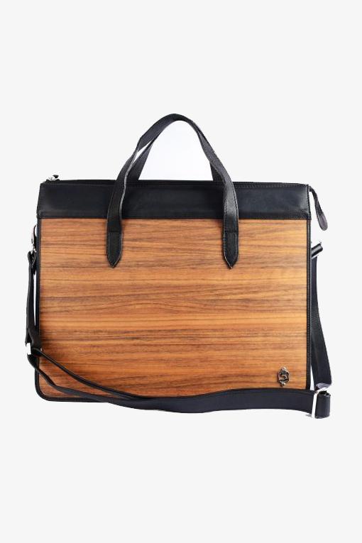 Laptop Bag Wooden Brown