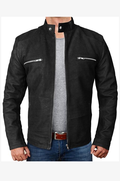 Vintage Black Snuff Leather Jacket