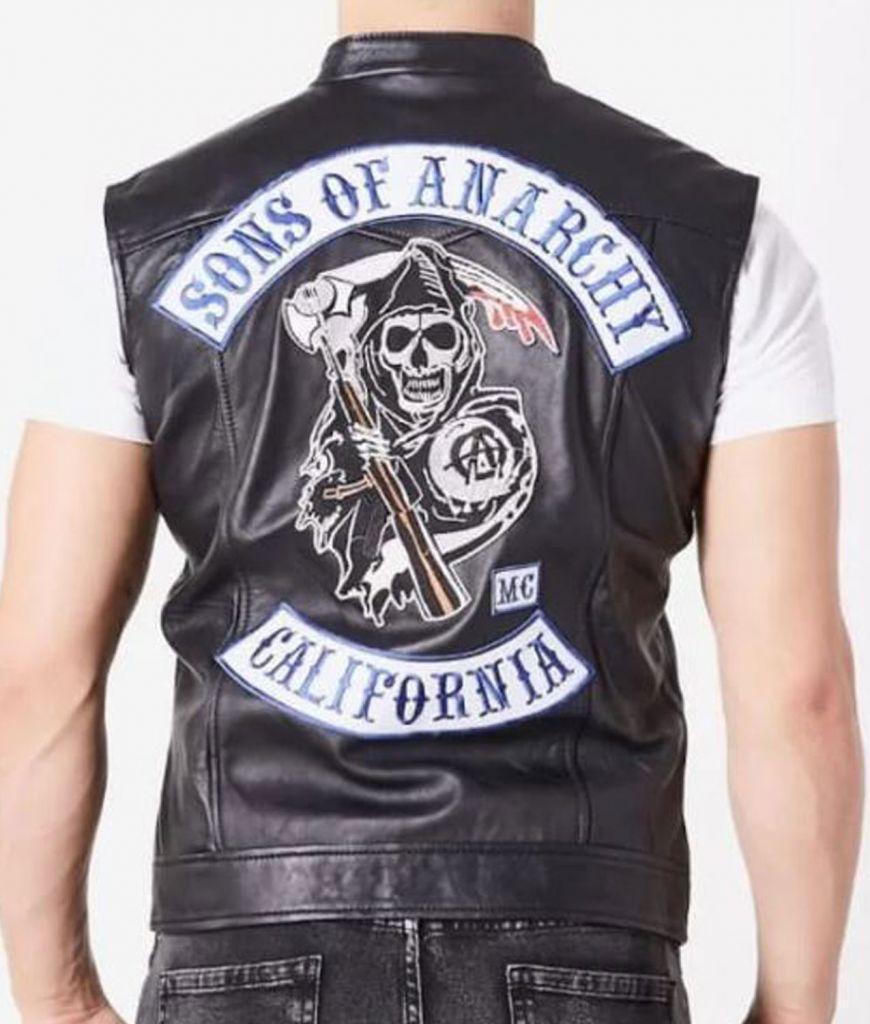 Jax Teller Leather Black Vest