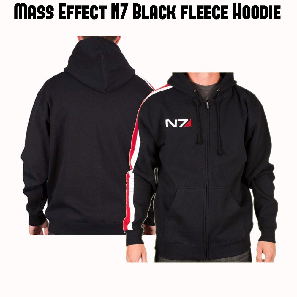 N7 Black Hoodie