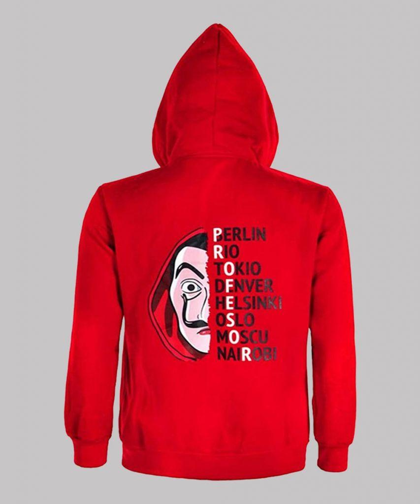 Money Heist Red Hoodie